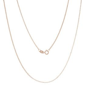 Rolo chain in 14kt rose gold | Gioiello Italiano