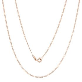 Thin curb chain in 14kt rose gold
