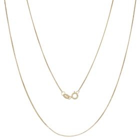 Thin box chain in 14kt yellow gold