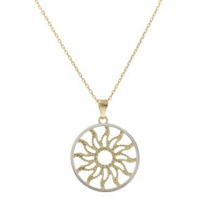 "Necklace ""Sun"" in yellow and white gold 14kt"