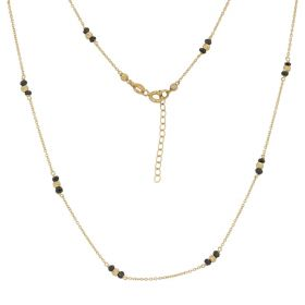 Yellow gold necklace with black zircons