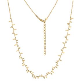 """Fishbones"" necklace in 14kt gold"