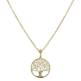 """Adjustable """"Tree of Life"""" necklace in 14kt yellow gold"""