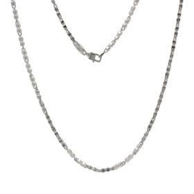 Men's 14kt white gold necklace | Gioiello Italiano