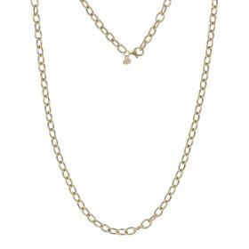 Yellow gold hollow ring necklace | Gioiello Italiano