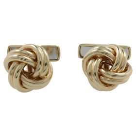 """Knot"" cuffs in yellow gold 14kt"