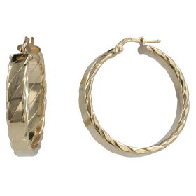"Yellow gold ""Band"" hoop earrings"