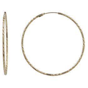 """Light"" hoop earrings in yellow gold"