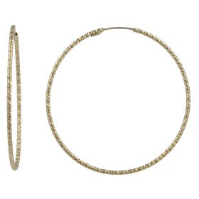 "Yellow gold ""Easy"" hoop earrings 
