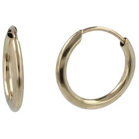 14kt yellow gold hoop earrings | Gioiello Italiano