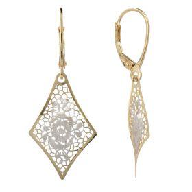 """Rhombus gold earrings """"Pizzo d'Oro"""""""