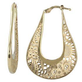 """Half-moon earrings """"Pizzo d'Oro"""""""
