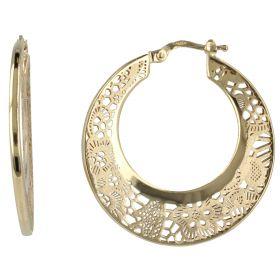 """Hoop gold earrings """"Pizzo d'Oro"""""""