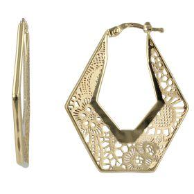 "Hexagonal earrings ""Pizzo d'Oro"""