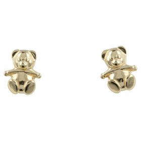 "14kt yellow gold ""Teddy Bear"" earrings 