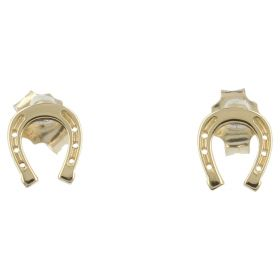 "18kt yellow gold ""Horse Shoe"" earrings 
