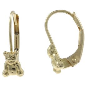 "14kt yellow gold ""Teddy Bear"" earrings"