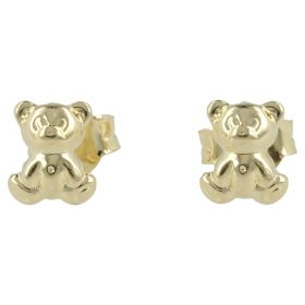 """Teddy"" earrings in yellow gold"