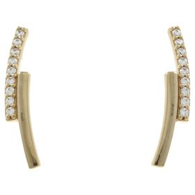 """Lightning"" earrings in 14kt gold with zircons | Gioiello Italiano"