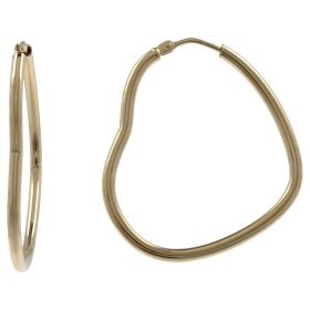 Medium heart earrings in 14kt yellow gold | Gioiello Italiano