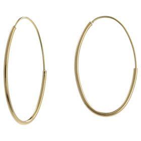 Oval 14kt yellow gold barrel earrings | Gioiello Italiano
