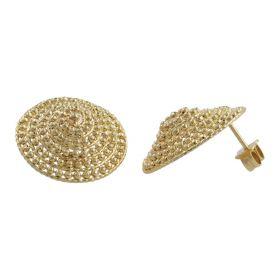 Ethnic earrings in 14kt yellow gold | Gioiello Italiano