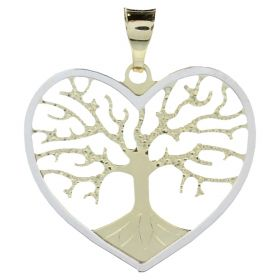 "Yellow and white gold ""Heart Treelife"" pendant"