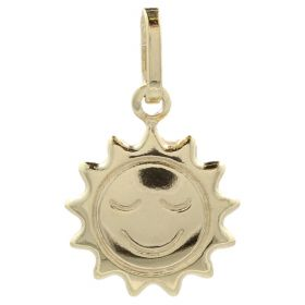 "14kt yellow gold ""Sun"" pendant"