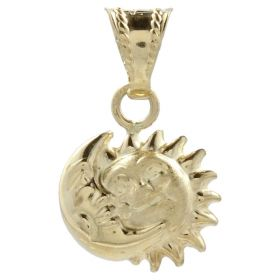 "Yellow gold ""Sun Moon"" pendant"