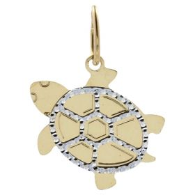 """Yellow and white gold """"Water Turtle"""" pendant"""