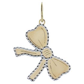 """Yellow and white gold """"Bow"""" pendant"""