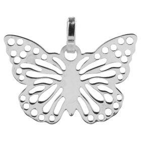 14kt gold flat butterfly pendant