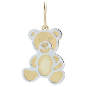 "Yellow and white gold ""Teddy Bear"" pendant"