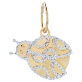 """Yellow and white gold """"Ladybug"""" pendant"""