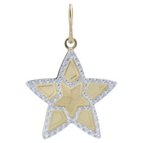 "Yellow and white gold ""Star"" pendant"