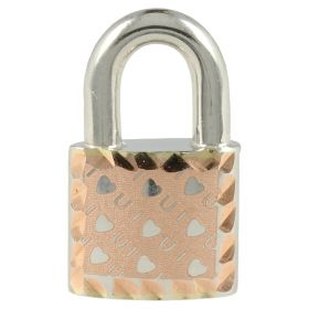 "Small ""Padlock"" pendant in white and pink gold 14kt"