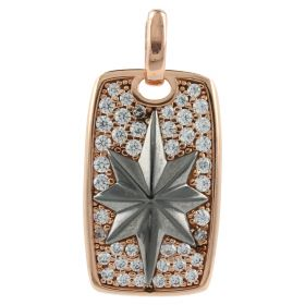 "Rose gold ""Polar Star"" pendant with zircons"