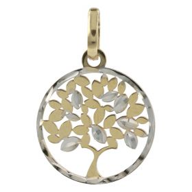 """Tree"" pendant in 14kt yellow and white gold"