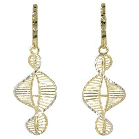 """DNA"" earrings in yellow gold 14kt"