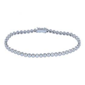 White gold tennis bracelet with 47 diamonds