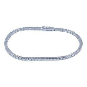 White gold tennis bracelet with 67 diamonds