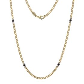Men's necklace in 18kt yellow gold with spinel | Gioiello Italiano