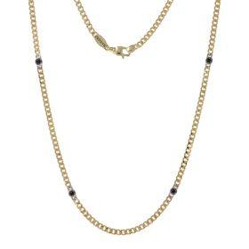 Collana da uomo in oro giallo 18kt con spinello | Gioiello Italiano