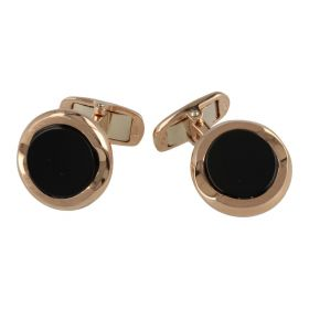 18kt rose gold cuffs with onyx | Gioiello Italiano