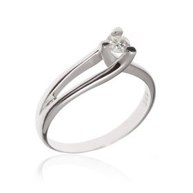 14kt white gold solitaire with 0.21ct diamond