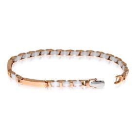14kt pink gold bracelet with ceramic