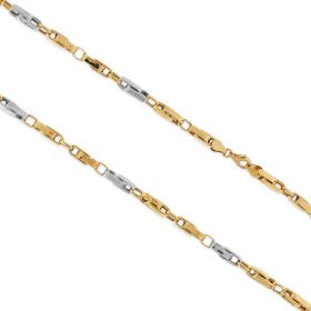 Yellow and white gold big segments chain | Gioiello Italiano