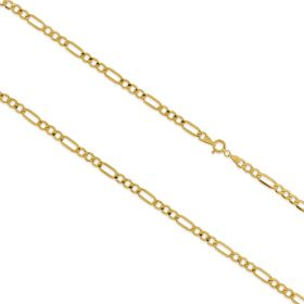 14kt yellow gold figaro medium chain