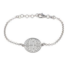 Bracciale greca in argento