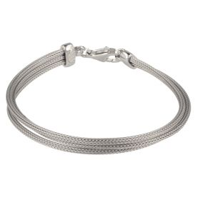 Silver mesh three strings bracelet